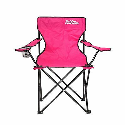 Returned Stock - Camping Chair PINK WITH BLACK TRIM