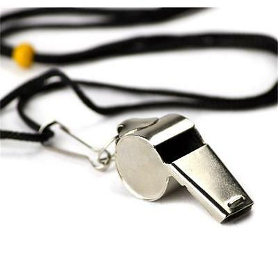 Brybelly Holdings SCOA-001 Stainless Steel Coachs Whistle with Lanyard