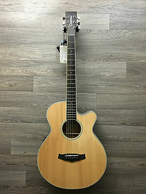 Solid Spruce Top Folk OOO Electro Acoustic Guitar RRP £300 with Fishmans Preamp