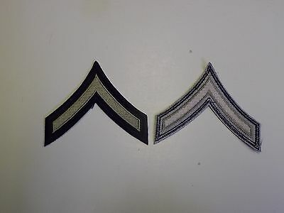 1000p WW2 US Army & Air Force Rank Chevron PFC Private First Class silver/blue