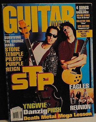 The Eagles Reunion, STP, Phish, Yngwie Malmsteen Aug 1994 Guitar World magazine