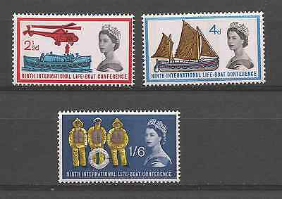 Great Britain 1963 Lifeboat Phosphor Set Mint Hinged