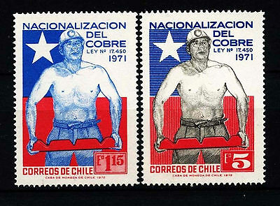 Chile 1972 SG#695-6 Copper Mines Nationalization Law MNH Set #D37589