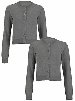 Top Class Essential Pack of Two Cardigans In Grey Marl Size 3-4 Years