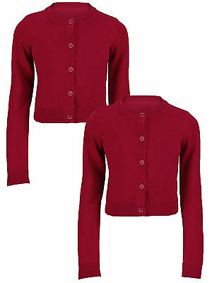 Top Class Essential Pack of Two Cardigans In Red Size 7-8 Years