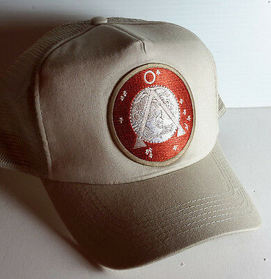 Stargate SG-1 TAN Earth Icon Logo TAN Baseball/Trucker Cap/Hat- on Tan Cap