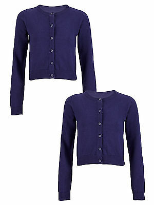 Top Class Essential Pack of Two Cardigans In Navy Size 7-8 Years