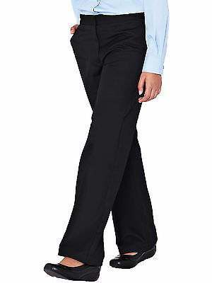 Top Class Girls Woven School Uniform Pack Of Two Trousers In Black Size 7 Years