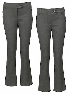 Top Class Girls Woven Slim Fit Pack Of Two School Trousers In Grey Size 12 Years