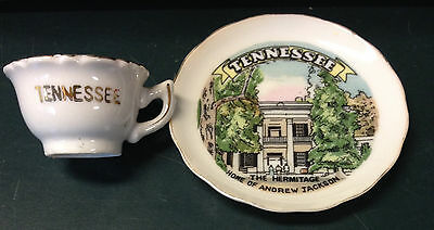 """Vintage Souvenir Collectible """"Cup & Saucer"""" TENNESSEE The Hermitage    Japan"""
