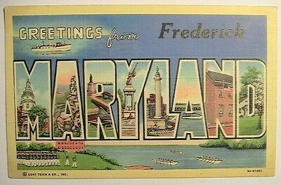 Frederick MD Large Letter Postcard PM 1942 to Toledo OH Knepper Family