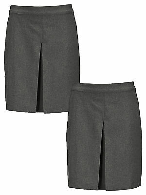 Top Class Pack Of Two Girls Kick Pleat Skirt in Grey Size 5-6 Years