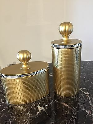 Gold Canisters Home Decor Vases With Mirror Art