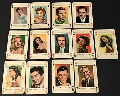 (13) 1940's-1950's R778 Movie Star Playing Cards - Maple Leaf Gum!