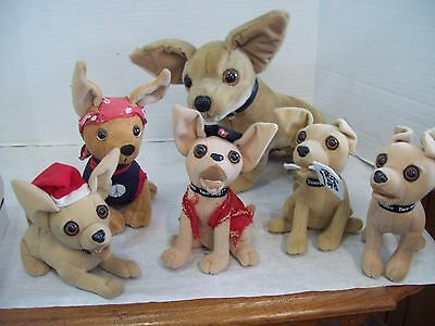 Taco Bell Talking Dog Chihuahua Plush Official Yo Quiero Stuffed Toys Lot of 6
