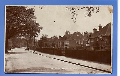 RARE 1919c OLD CAR FRITHWOOD AVENUE NORTHWOOD MIDDLESEX RP PHOTO POSTCARD
