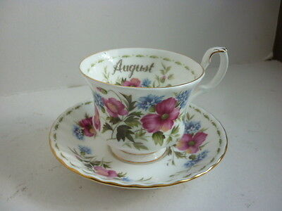 Royal Albert Flower Of The Month For August Cup & Saucer