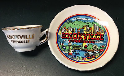 """Vintage Souvenir Collectible """"Cup & Saucer"""" KNOXVILLE Tennessee   Made in Japan"""