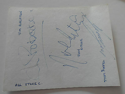 Vintage Football Autographs Stoke City  1970Signed By 14 On 3 Autograph  Pages