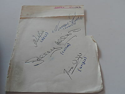 Vintage Football Autographs  Leeds United 1960S  Signed By 4 Autograph  Page