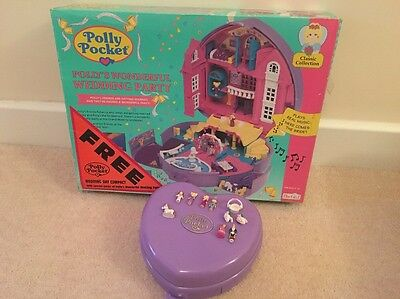 Vintage Polly Pocket Polly's Wonderful Wedding Party With Figures And Box