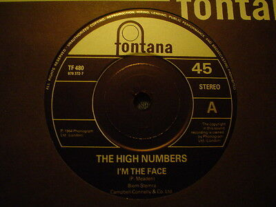 """Uk Fontana """"re Issue"""" The High Numbers-I`m The Face-Ex"""