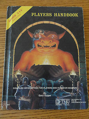 Fabulous Vintage Advanced Dungeons & Dragons PLAYERS HANDBOOK Gary Gygax 1980