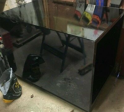 shop display counter black mirror glass on wheels relisted