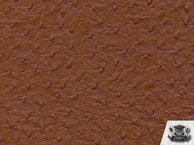 Vinyl Ostrich BUCKSKIN Fake Leather Upholstery Fabric By the Yard