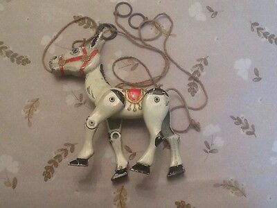 Vintage Muffin The Mule Metal Puppet Toy With Original Strings