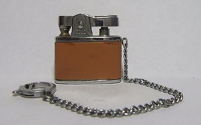 1960's Continental Mini Keychain Lighter, Brown Leather Wrap, Good Little Spark