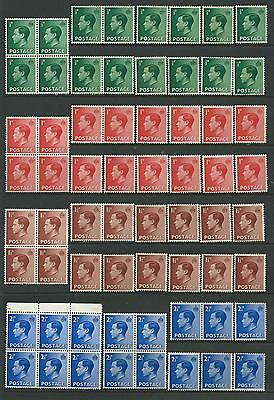Collection of MINT EdVIII stamps.