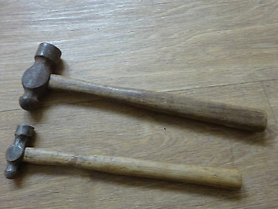 Vintage Ball Pein hammers x 2 - Old hand tool