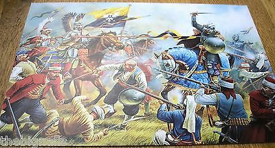 Military 1863 Charge of the Pollish Winged Hussars Large Postcard