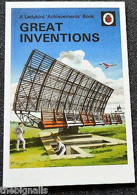 Ladybird Book Cover Postcard GREAT INVENTIONS new