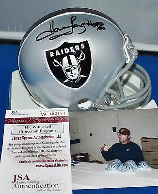 Howie Long Autographed Mini Helmet Oakland Raiders Hof 2000 Jsa
