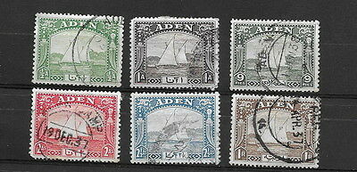 Aden. 1937. ½a to 2½a, 1 rup. Used. (6)