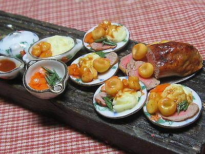 12th scale dollhouse dolls house food~Roast beef dinner ~ by redclegg