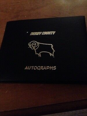 Empty Derby County Autograph Book