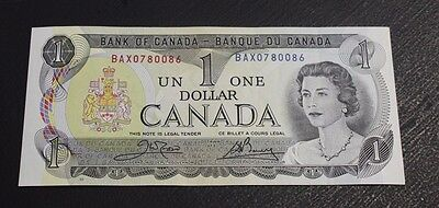 1973 $1 Bank of Canada Crow Bouey BC-46bA BAX about UNC