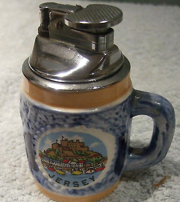 Rare Old Rare Jersey Souvenir Tankard Style Cigarette Lighter A Regal Product