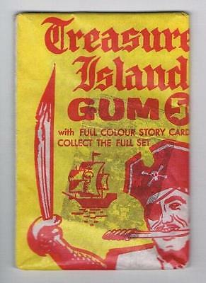 1964 Grant Products Treasure Island Trading Cards Unopened Pack Yellow