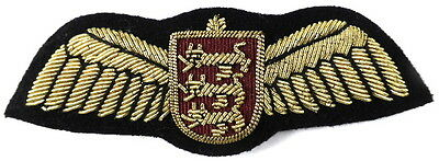 States Of Guernsey Airlines Pilots Bullion Wire Wing Badge