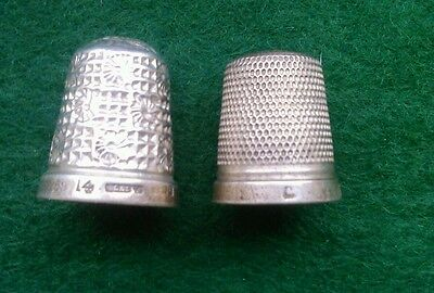 Two Hallmarked Silver Thimbles
