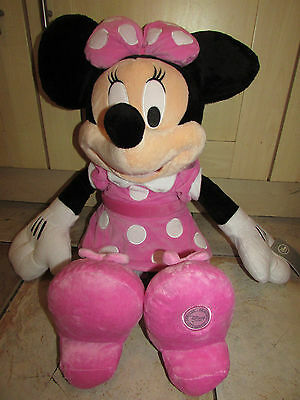 """Disney Store Xl 28"""" Minnie Mouse Super Soft Plush Cuddly Toy Mickey Clubhouse"""