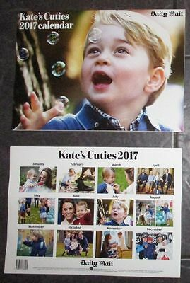 NEW Kate's Cuties 2017 Calendar Kate Middleton Prince George Princess Charlotte