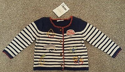 BNWT Next Baby Girl Cardigan 3 - 6 Months Navy RRP £14