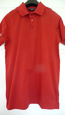 """GLENMUIR 1891 men`s POLO SHIRT - red - size small chest 40"""" - nwot"""