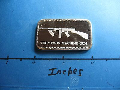 Thompson Submachine 1921 Rifle Gun Doyles Mint Vintage 999 Silver Bar Rare Cool