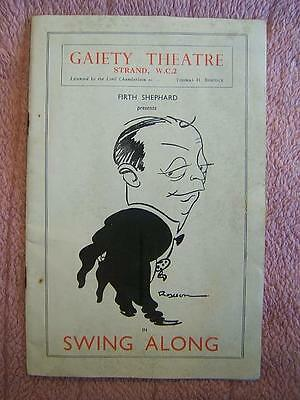 GAIETY THEATRE London PROGRAMME late 1930s SWING ALONG Musical Show